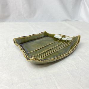 美濃焼 陶磁器 織部 台形皿