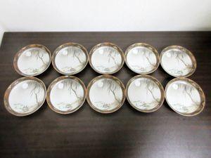 九谷造 小皿 10枚セット 月 花 魚 和食器 陶器