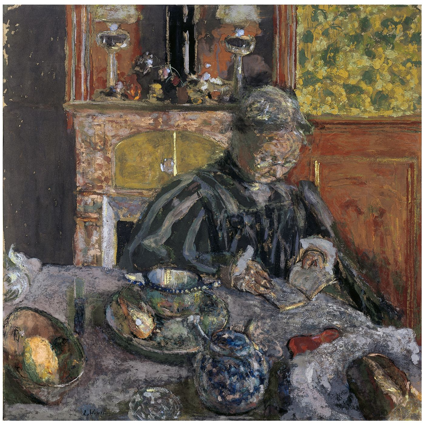 Eduard Vuillard, Woman Reading, 1910