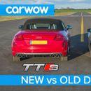 Audi R8 V8 vs Audi TTS (ВИДЕО)
