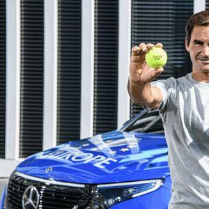 Mercedes EQC службено возило на тенискиот куп Лавер