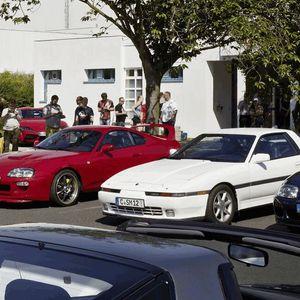 Пет генерации на Supra во музејот на Toyota во Келн