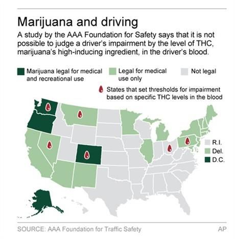 Study: No scientific basis for laws on marijuana and driving