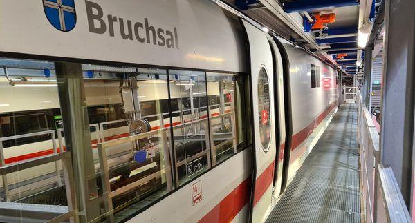 """Diese Strecke hat der """"ICE Bruchsal"""" bisher zurückgelegt"""