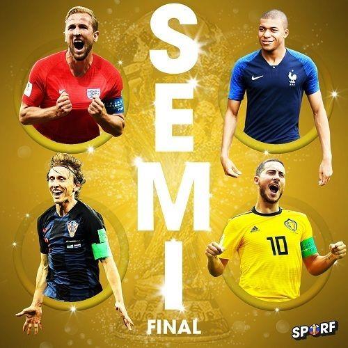 ロシアW杯、ベスト4出揃う!フランス×ベルギー、クロアチア×イングランド!それぞれの対戦成績は?の代表サムネイル