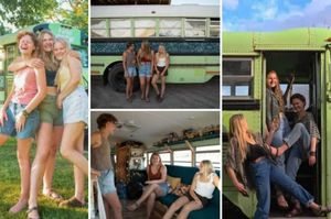 tre ragazze americane scoprono di avere lo stesso fidanzato e allora si comprano un vecchio bus e...