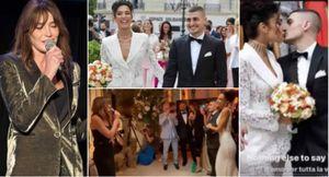 carla bruni ormai canta per matrimoni! alle nozze di verratti con jessica aidi la moglie di sarkozy