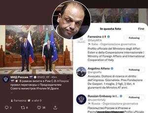 e alfano che c'entra? - la gaffe del ministero degli esteri russo su twitter: tagga angelino...