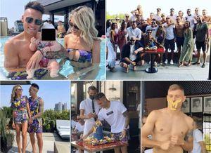 la fiesta supercafona del 'toro':lautaro martinez ha invitato i compagni di squadra...