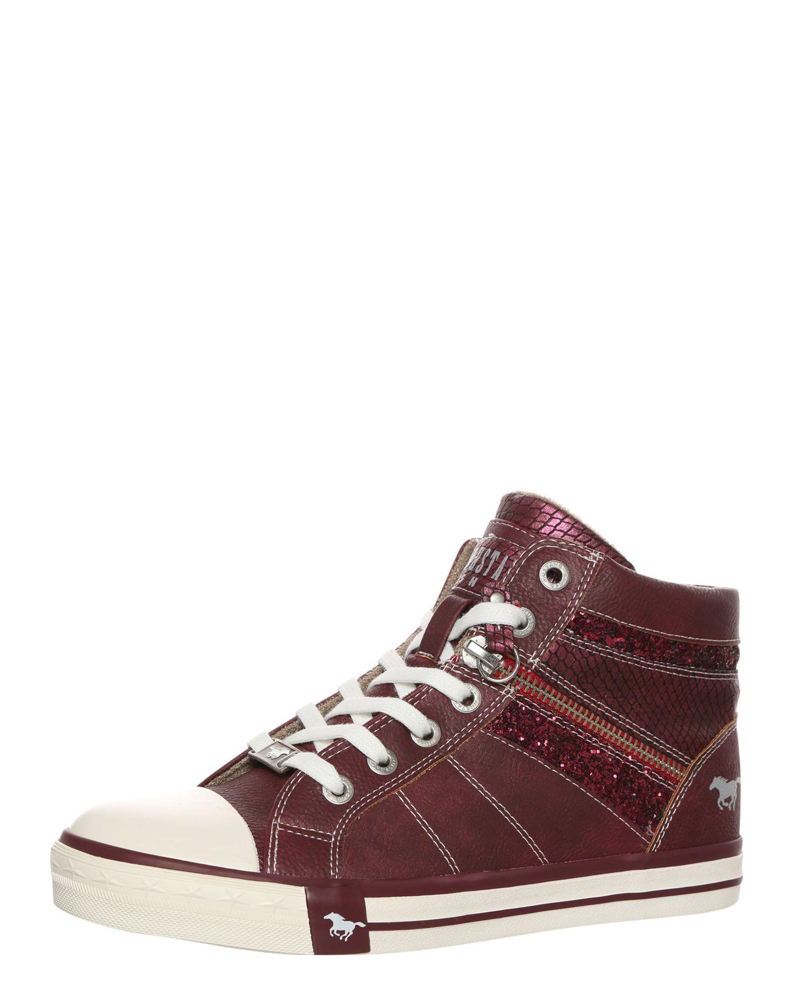 Sneaker mit Glitzerdetails