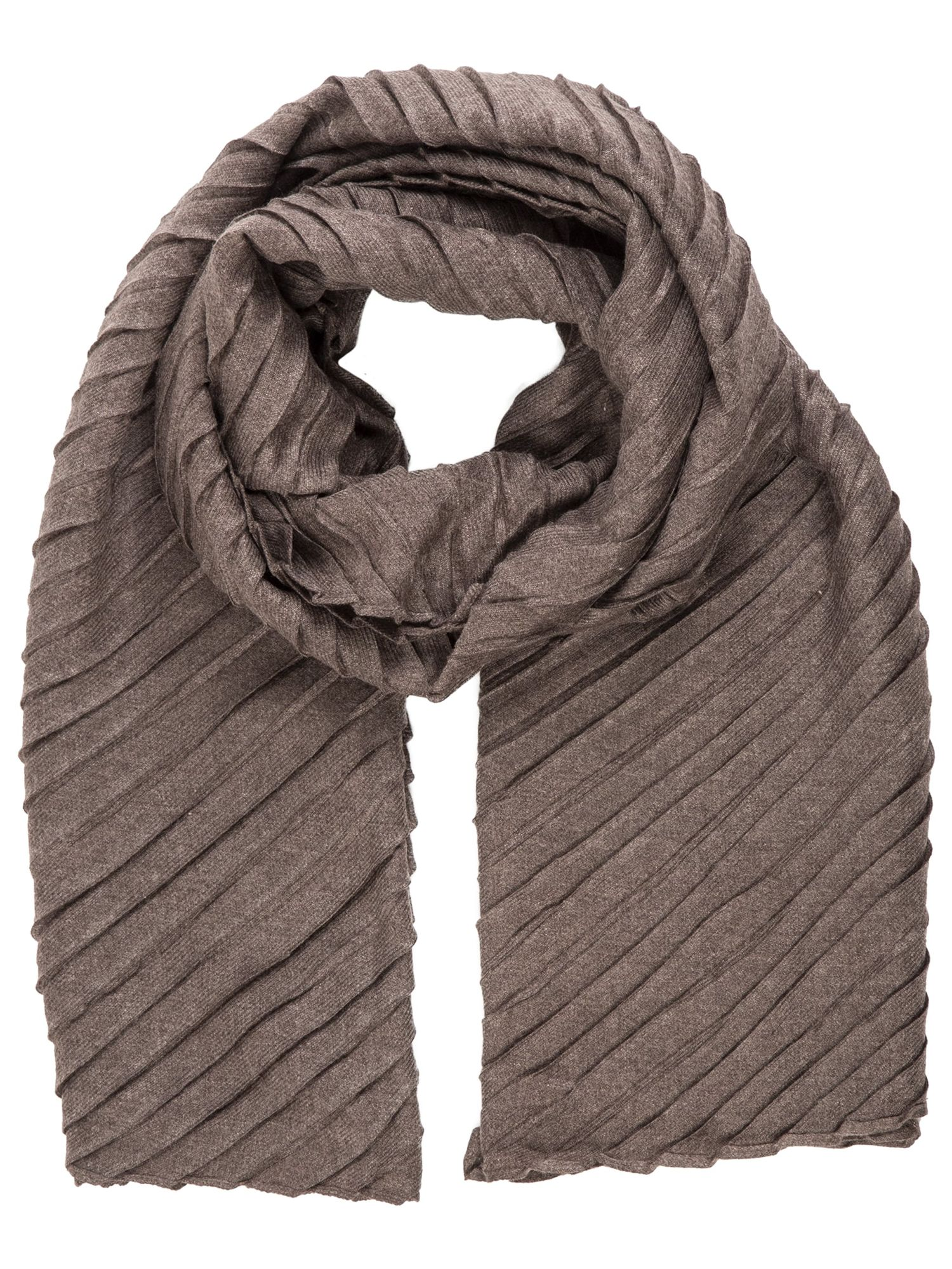 Schal im Plissée-Look