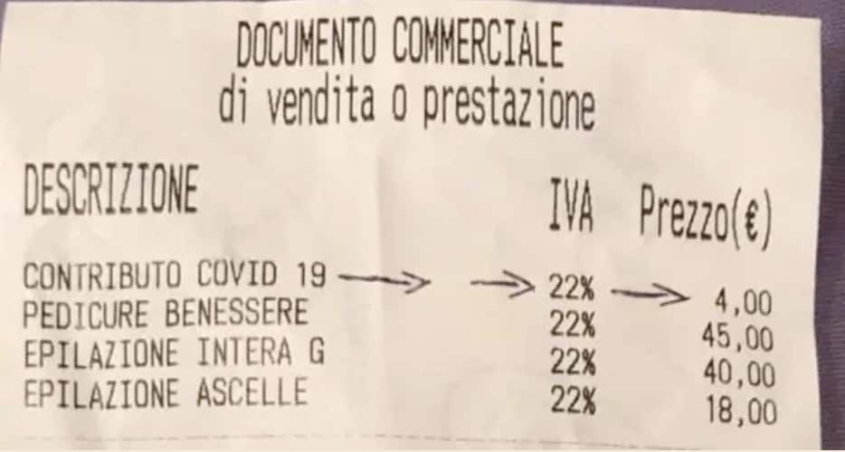 Spunta tassa Covid 2 4 euro negli scontrini