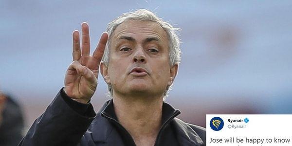 Mourinho, la frecciata di Ryanair diventa virale: tifosi infuriati!