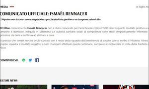 Milan: Bennacer positivo al Covid, salta gara con il Nizza