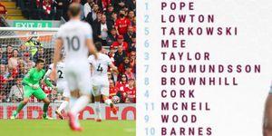 Burnley virale: in campo con i numeri dall'1 all'11, come una volta...