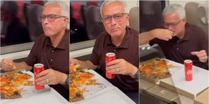 Roma, Mourinho festeggia sul treno: