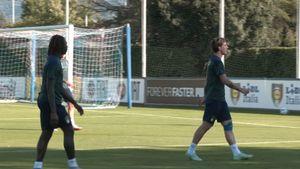 Alla ripresa degli allenamenti della Nazionale di Mancini, in campo anche il bia [...]