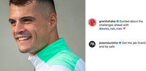 Xhaka positivo al covid: il messaggio di Mourinho sui social