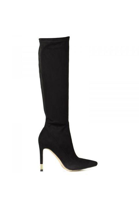 Μαύρη ψηλοτάκουνη μπότα