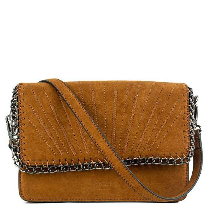 Ταμπά τσάντα σουέντ με αλυσίδα