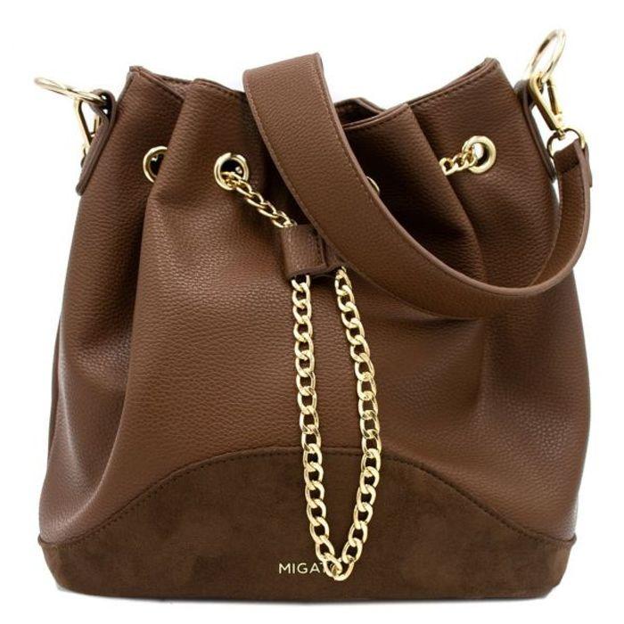 Καφέ τσάντα πουγκί