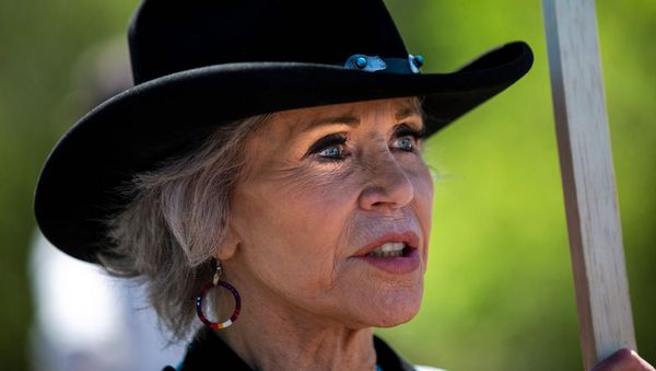 Jane Fonda trainiert für Protestaktionen gegen eine Öl-Pipeline