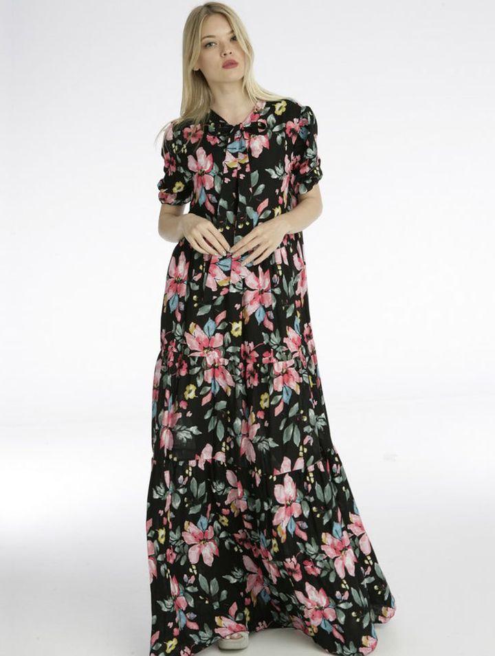 Φόρεμα maxi φλοράλ Coocu