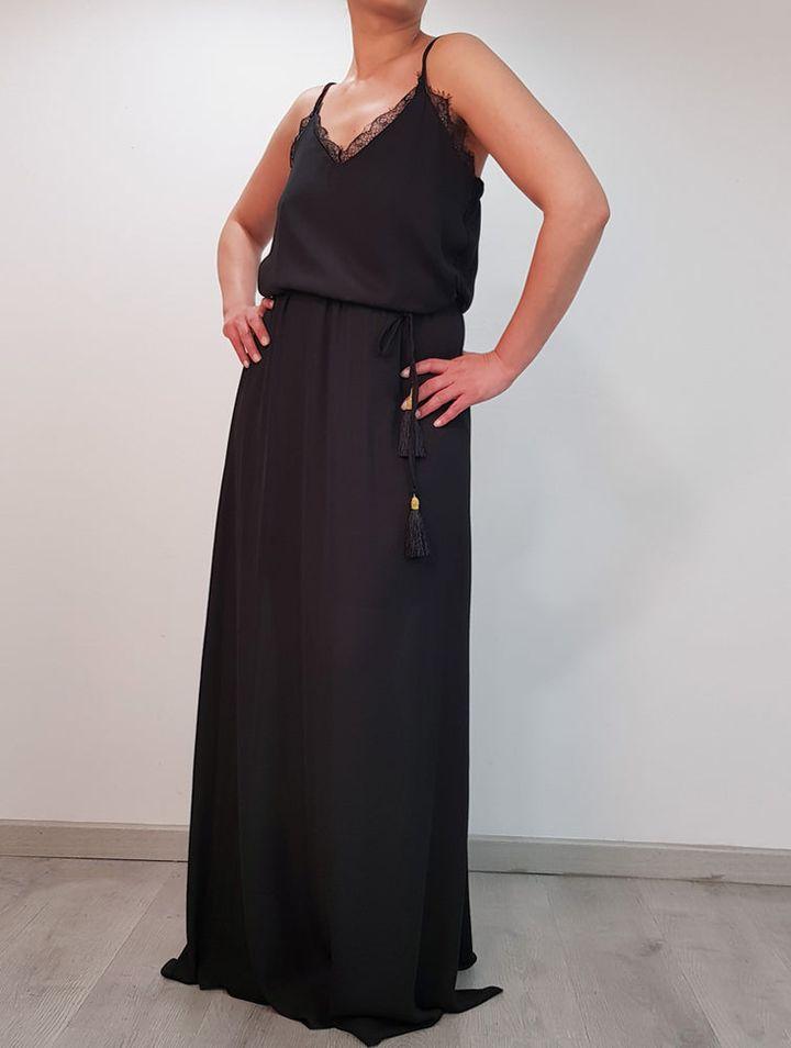 Μαύρο maxi φόρεμα Chica Loca