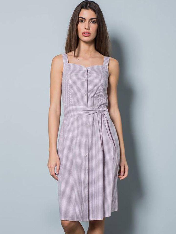 Λίλα/άσπρο φόρεμα New Age