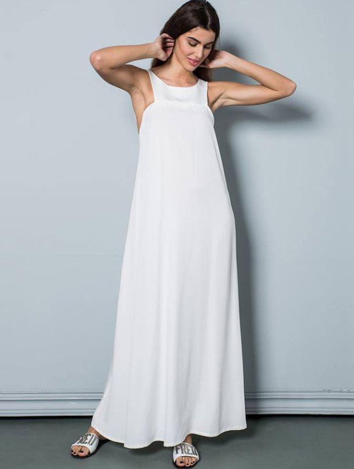 Φόρεμα maxi εξώπλατο New Age