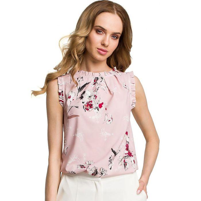 Floral ροζ top