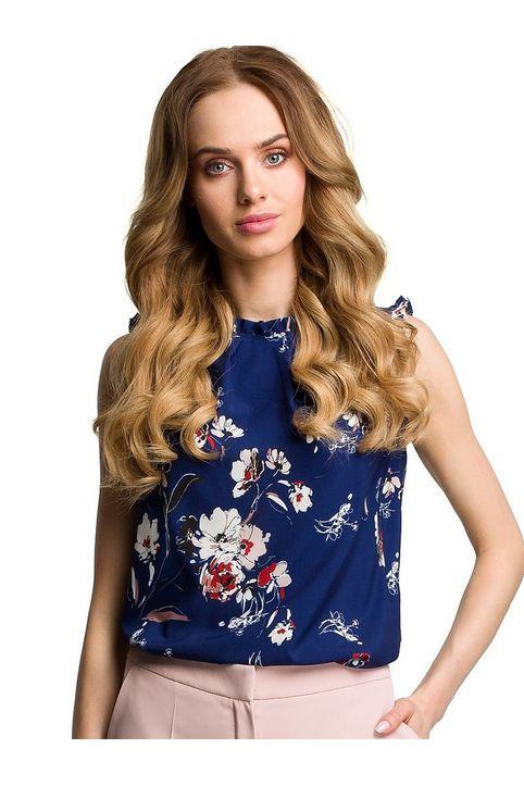 Floral μπλε top
