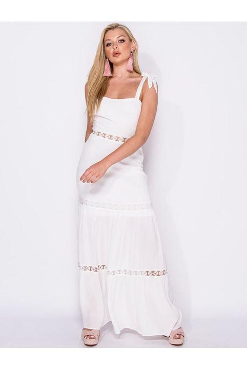 Maxi φόρεμα με λεπτομέρεια από δαντέλα