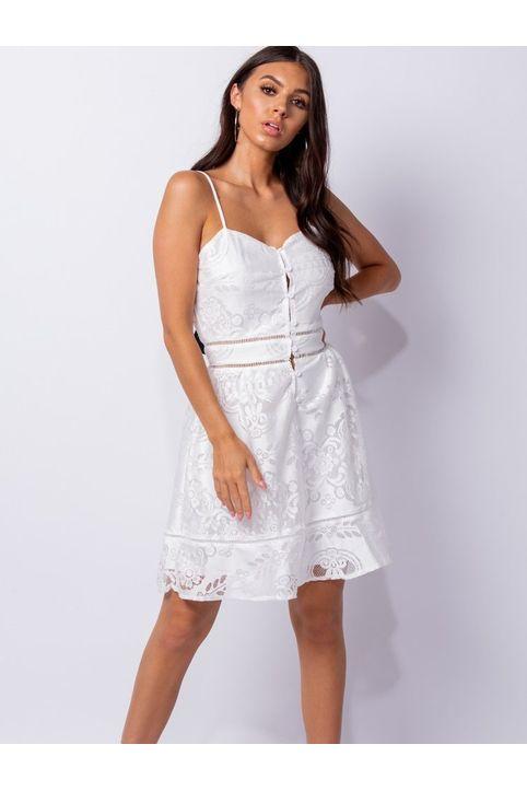 Floral Δαντελένιο Cami Mini Φόρεμα