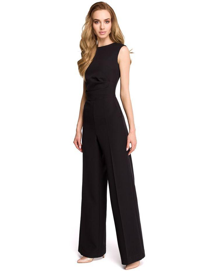 Chic μαύρη ολόσωμη φόρμα