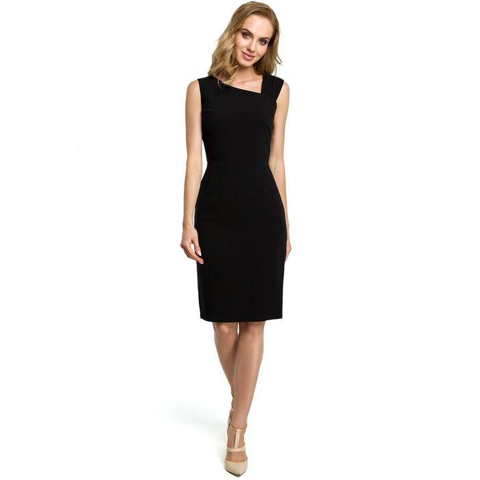 Μαύρο midi pencil cocktail φόρεμα