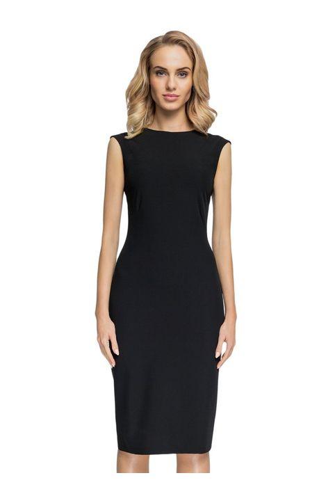 Μαύρο pencil midi φόρεμα