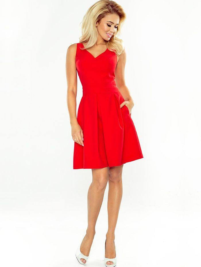 Κόκκινο mini cocktail φόρεμα