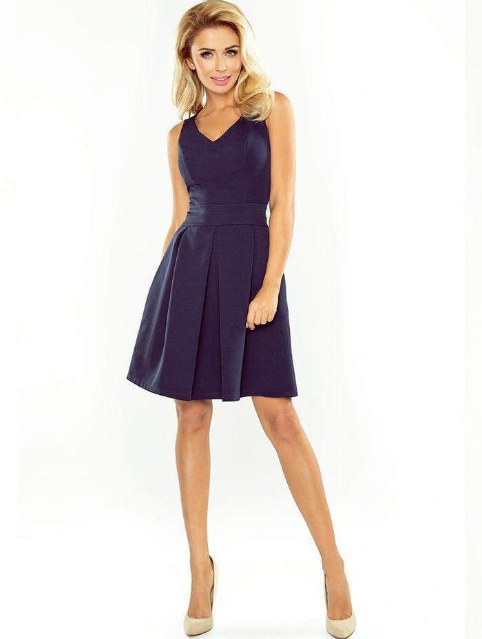 Μπλε mini cocktail φόρεμα