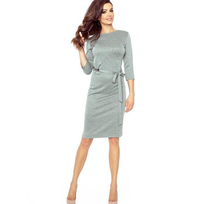 Lurex midi φόρεμα
