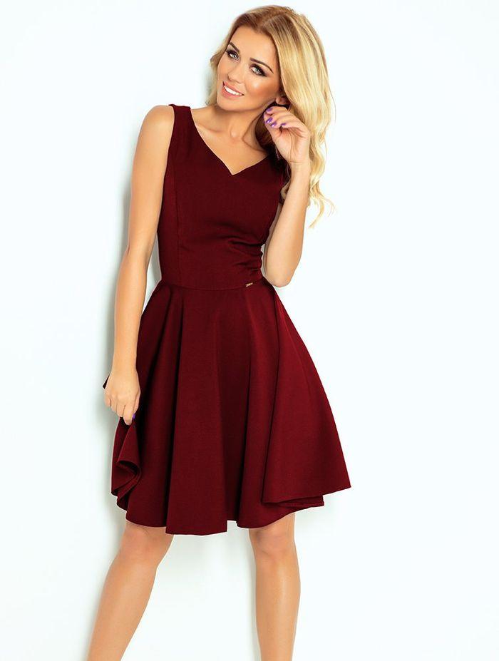 Bordeaux midi φόρεμα
