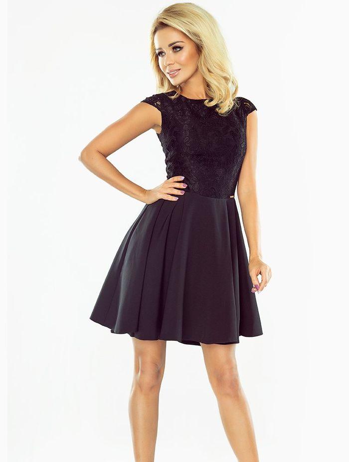 Skater φόρεμα από συνδυασμό υφασμάτων