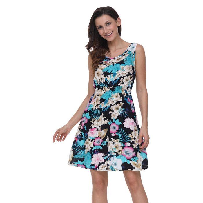 Αμάνικο κοντό φόρεμα MYRTLE TURQ