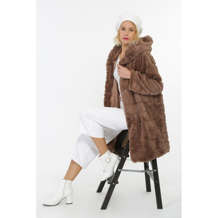Παλτό από faux γούνα oversized