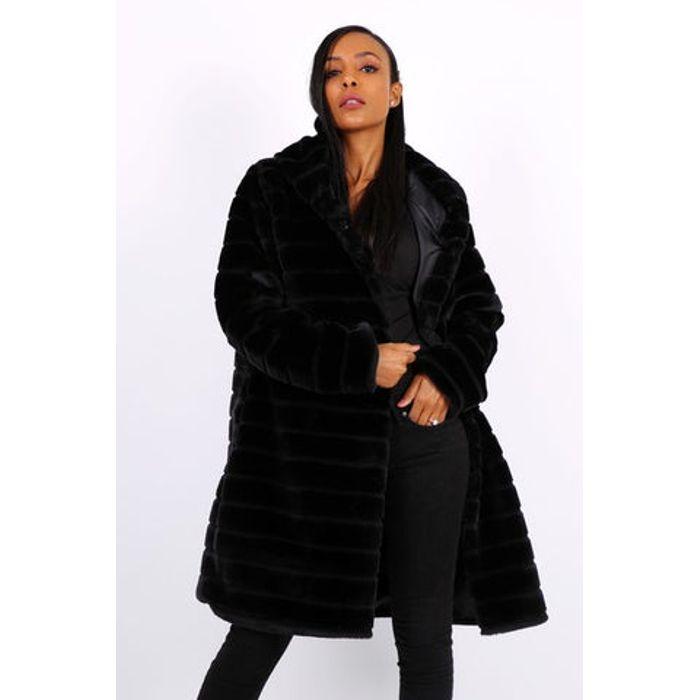Παλτό midi από faux γούνα