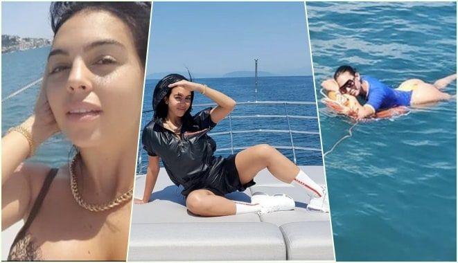 Georgina Rodriguez con Ronaldo relax sullo yacht Viareggio