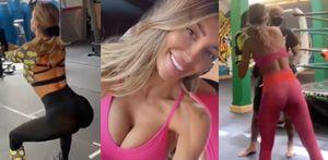 Cristina Buccino tra squat e boxe: che allenamento!