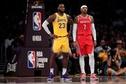 外國媒體製作Melo與湖人球衣的合成圖,LeBron James讚好了