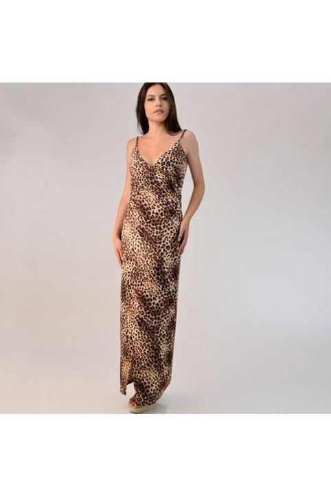Πολυμορφικό φόρεμα animal print