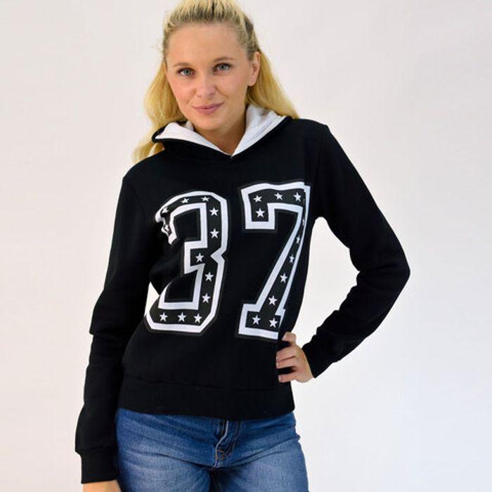 Μπλούζα φούτερ με κουκούλα '37'